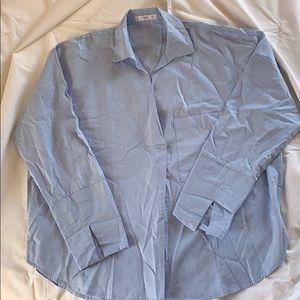 Mango Oversized cotton shirt.